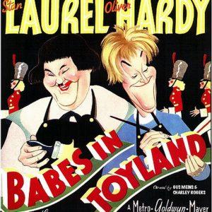 classic cinema, vintage film, Laurel & Hardy, Christmas theme
